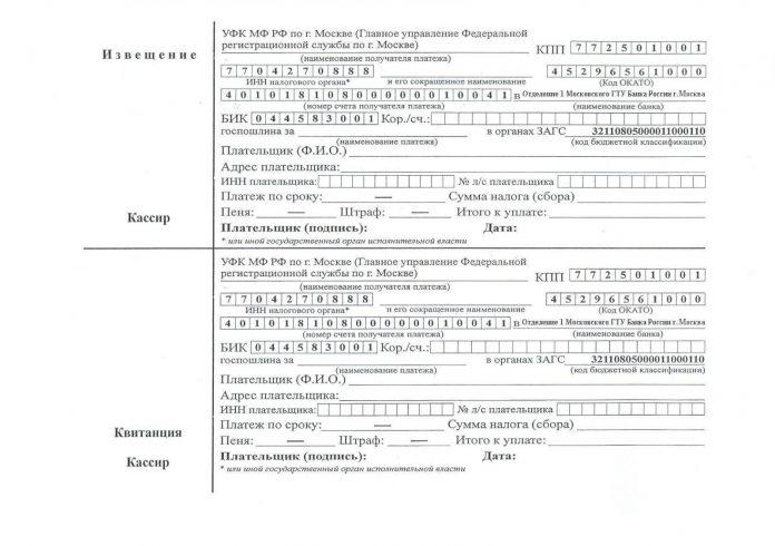 Какую оплатить госпошлину на заявление в ЗАГС и как это сделать
