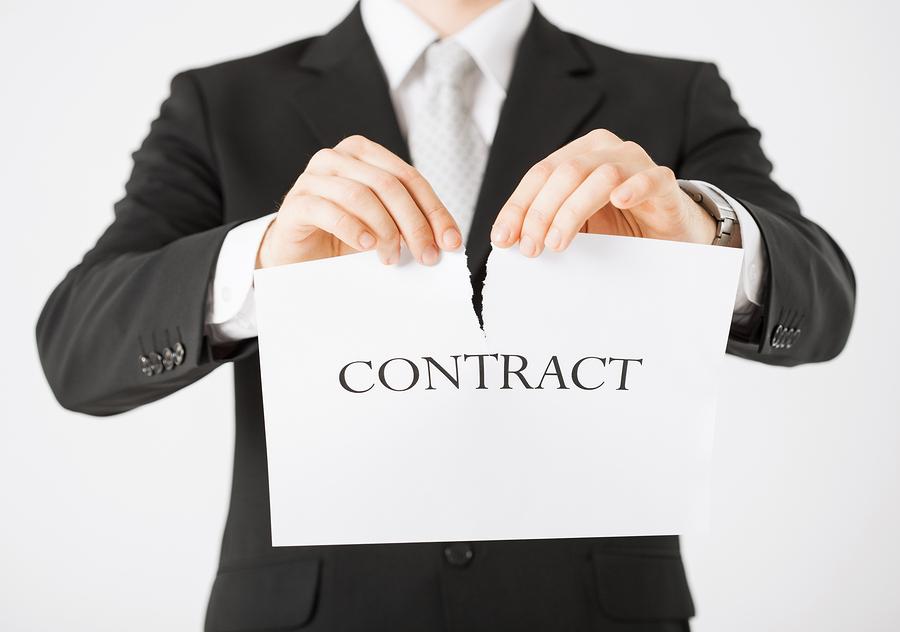 Досрочное расторжение договора на оказание услуг